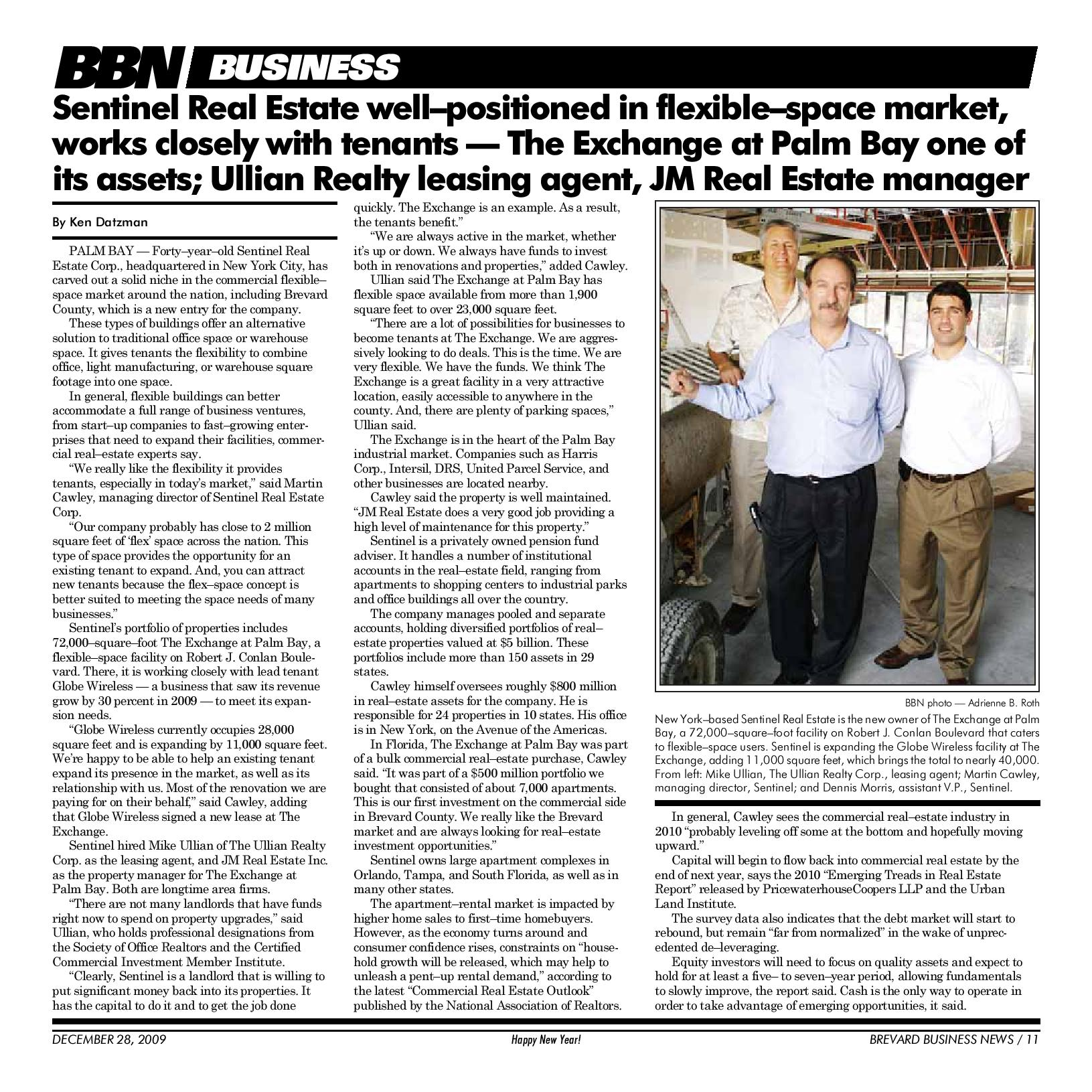 Ullian Realty BBN Business Article Image